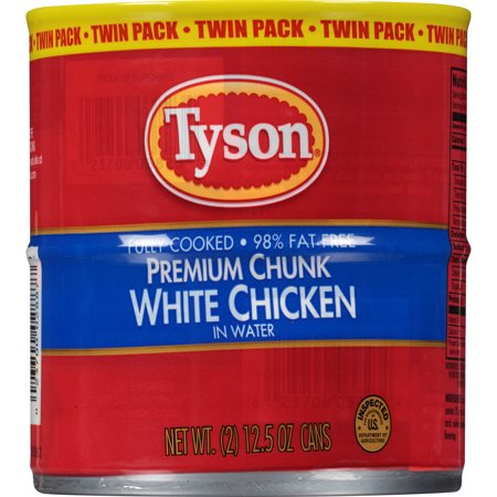 (2 Cans) Tyson Premium Chunk White Chicken Breast, 12.5