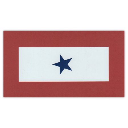 Magnetic Bumper Sticker - Blue Star Service Flag - 1 Blue Star - United States Military Service - 5.5