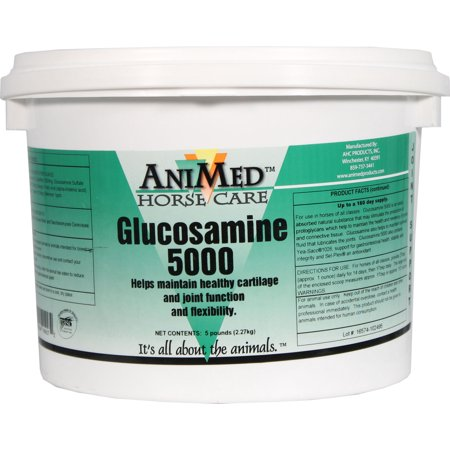 Animed D-Glucosamine 5000 Joint Health Supplement For Horse- White 5 Pound (Best Oil For Horses Joints)