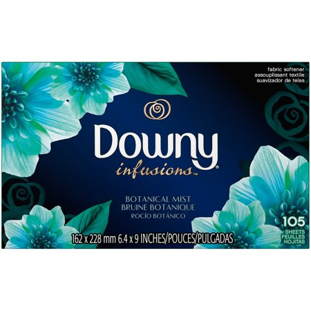 Downy Infusions Dryer Sheets, Botanical Mist, 105 Sheets