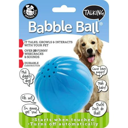 Pet Qwerks Talking Babble Ball Dog Toy, Large
