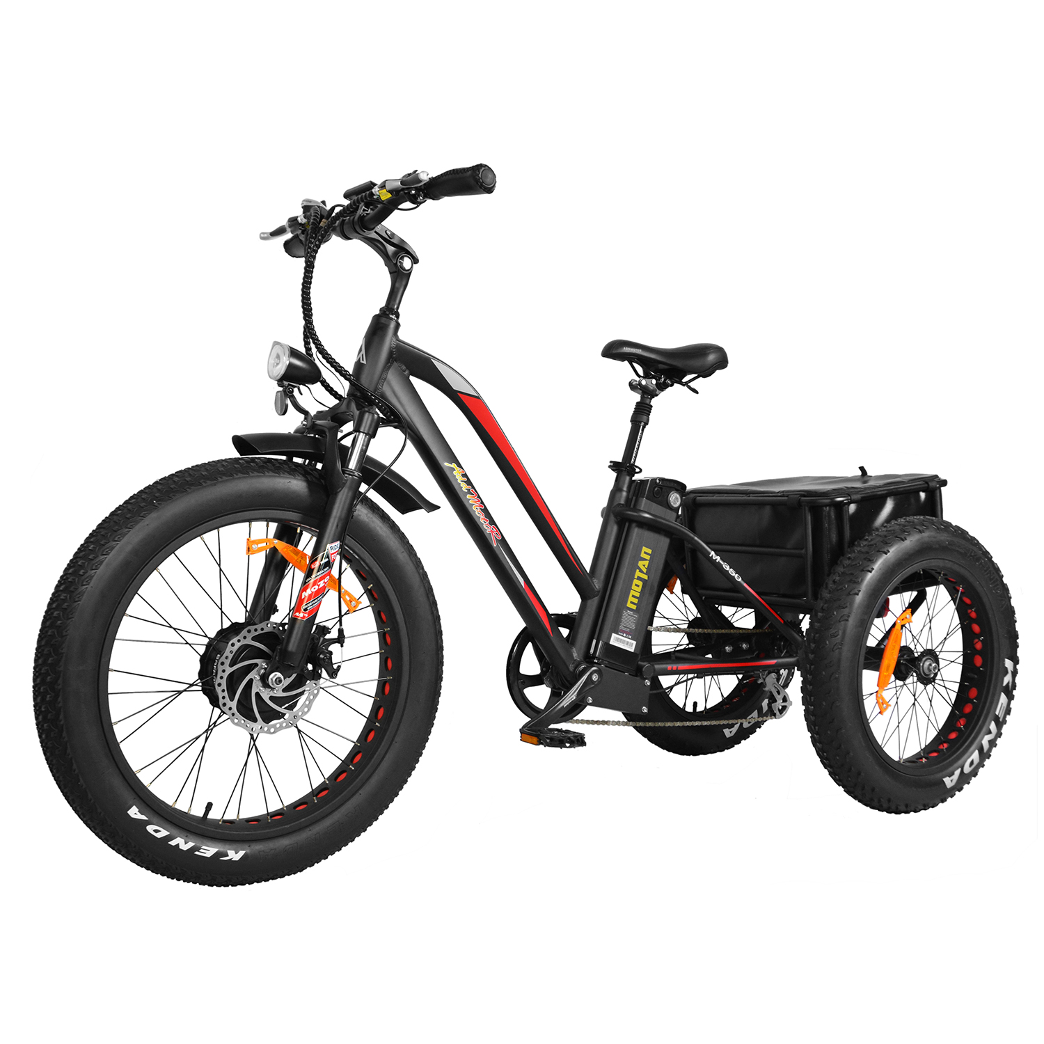 """Addmotor Electric Tricycle Trike Three Wheel 24"""" Fat Tire Electric Bicycle 10.4AH... by Addmotor"""