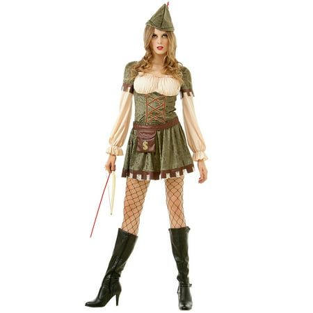 Boo! Inc. Lady Robin Hood Women's Halloween Costume | Sexy Classic Fairy Tale Dress Up
