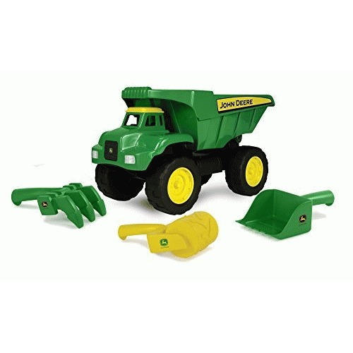 "John Deere 15"" Big Scoop Dump Truck with Sand Tools by TOMY"