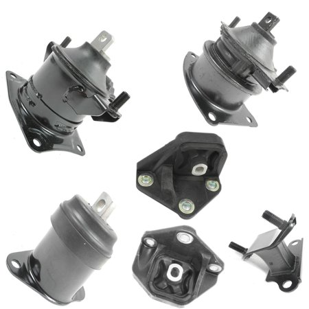 2003-2007 Honda Accord 3.0L Engine Motor & Trans Mount Set 6PCS for Automatic Transmission A4517 A4525 A4524 A4544 A4526HY (Honda Accord Motor)