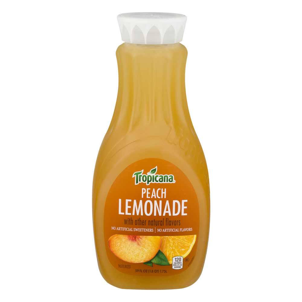 Tropicana Juice Peach Lemonade, 59.0 FL OZ
