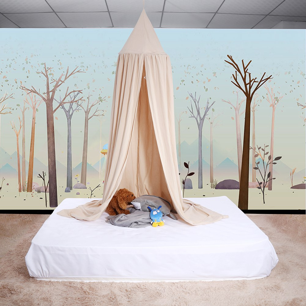 Greensen Round Dome Hanging Bed Canopy Mosquito Net Curtain for Baby Kids Reading Playing,Bed Canopy