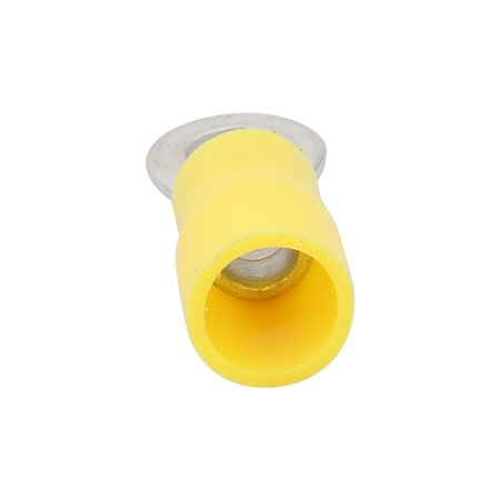 50 Pcs RV5.5-5 Pre Insulated Ring Crimp Terminals Yellow for AWG 12-10 Wire - image 1 of 3