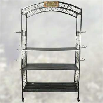 3 Tier Arch Display w/Wheels & 24 Hooks + FRT