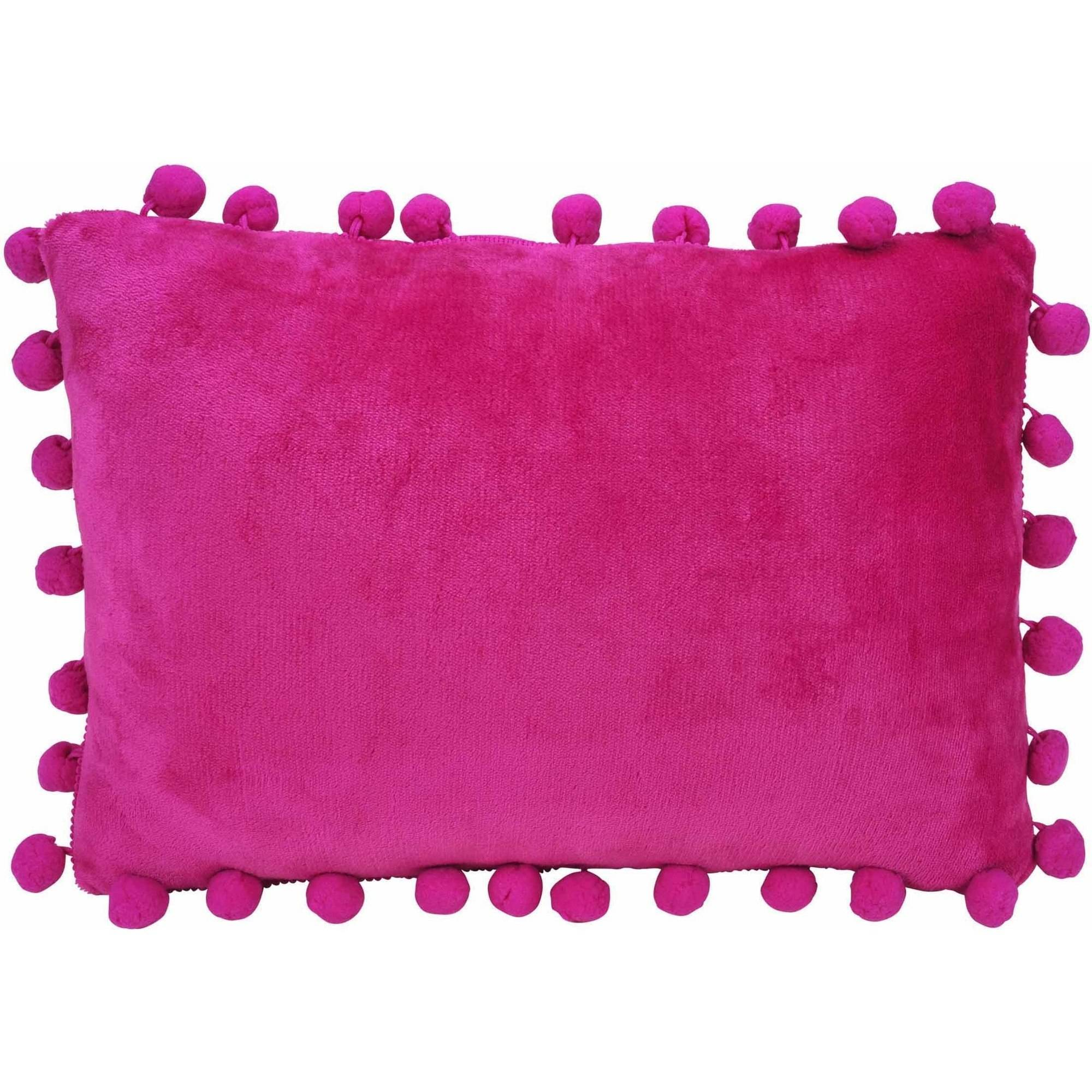 "Latitude Plush Pom Pom 12"" x 18"" Pillow"