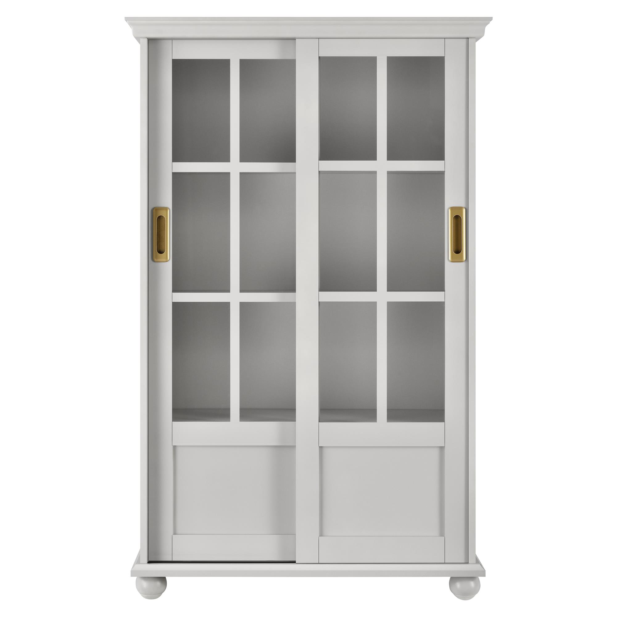 Novogratz Magnolia Hill Bookcase With Sliding Glass Doors