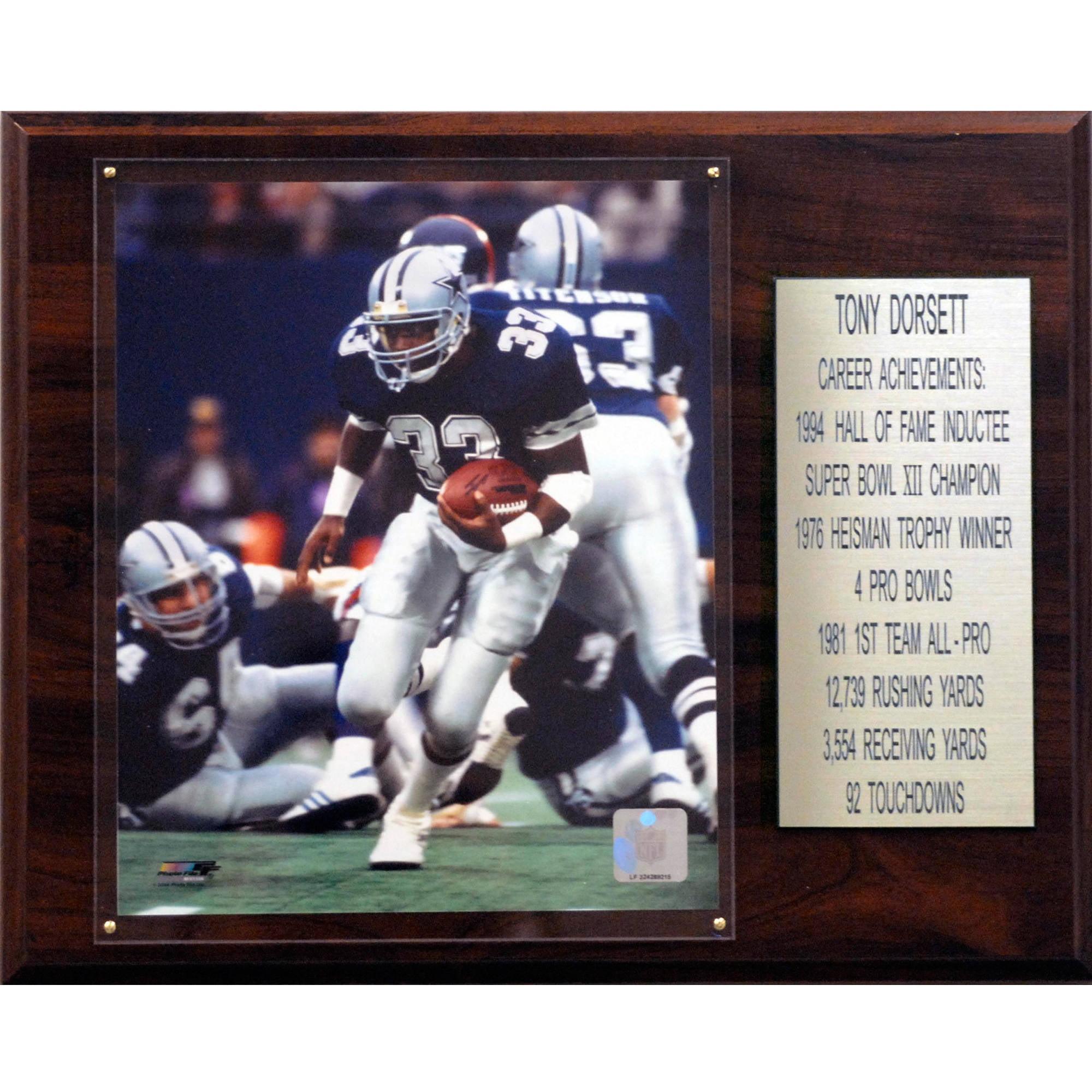 C&I Collectables NFL 12x15 Tony Dorsett Dallas Cowboys Career Stat Plaque