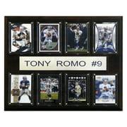 C&I Collectables NFL 12x15 Tony Romo Dallas Cowboys 8-Card Plaque