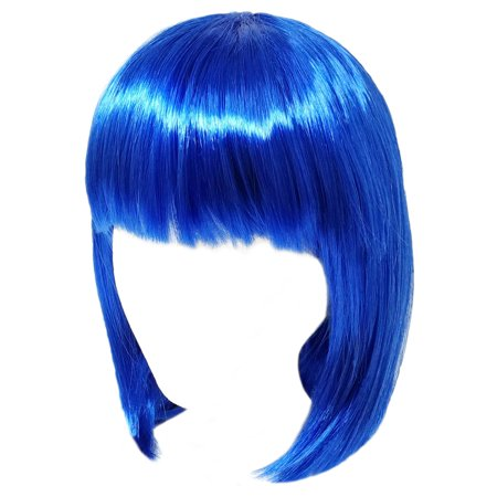 SeasonsTrading Economy Blue Bob Wig - Adult Costume Cosplay Party Wig](Costume Blue Wig)