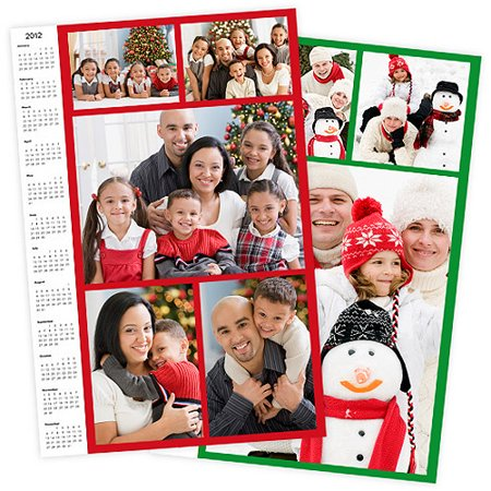 11X14 Calendar Collage Poster  Matte Photo Paper