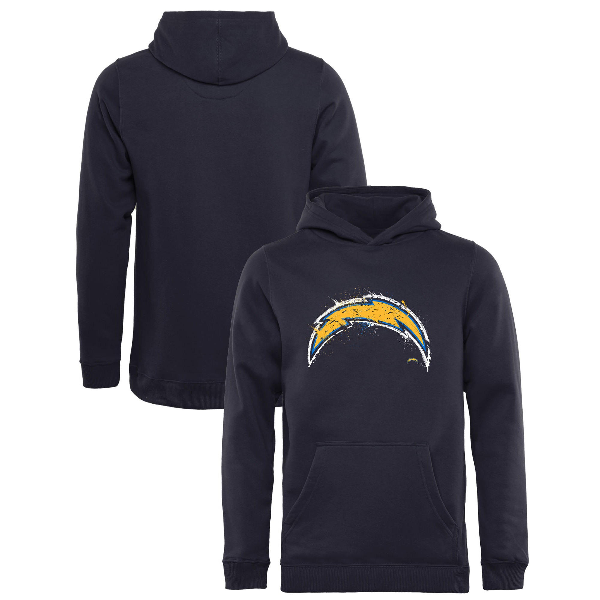Los Angeles Chargers NFL Pro Line by Fanatics Branded Youth Splatter Logo Pullover Hoodie - Navy