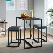Nathan James Nelson Nutmeg Brown Wood and Black Metal Pub Modern Industrial Dining Table for 2
