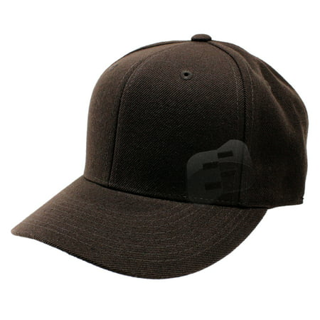 Enimay Baseball Hats Caps Curved Bill Solid Color No Logo (MANY COLORS/SIZES AVAILABLE) Brown 7 3/4