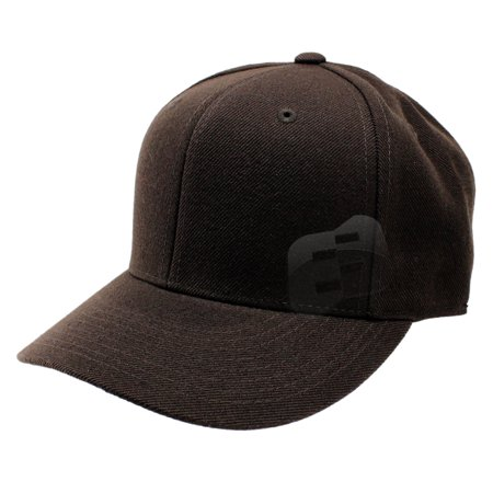 Enimay Baseball Hats Caps Curved Bill Solid Color No Logo (MANY COLORS/SIZES AVAILABLE) Brown 7 3/4 ()