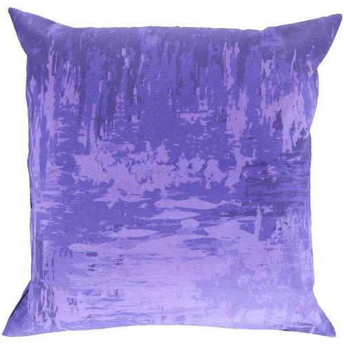 "20"" Light and Dark Purple Seascape Decorative Throw Pillow"