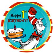 Dr. Seuss 1st Birthday Dinner Plates, 8-Pack by Generic