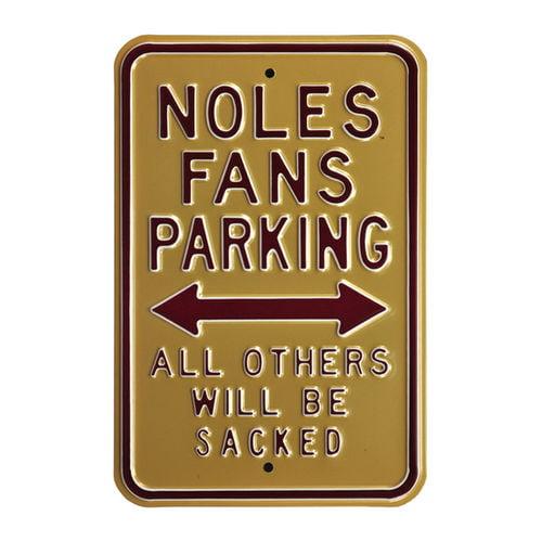 "Gold Florida State Seminoles 12"" x 18"" College Parking Sign"
