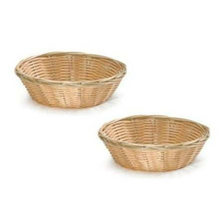 - Update International NEW, 8-Inch Round Woven Bread Roll Baskets, Food Serving Baskets, Basket, Restaurant Quality, Polypropylene Material - Set of 2