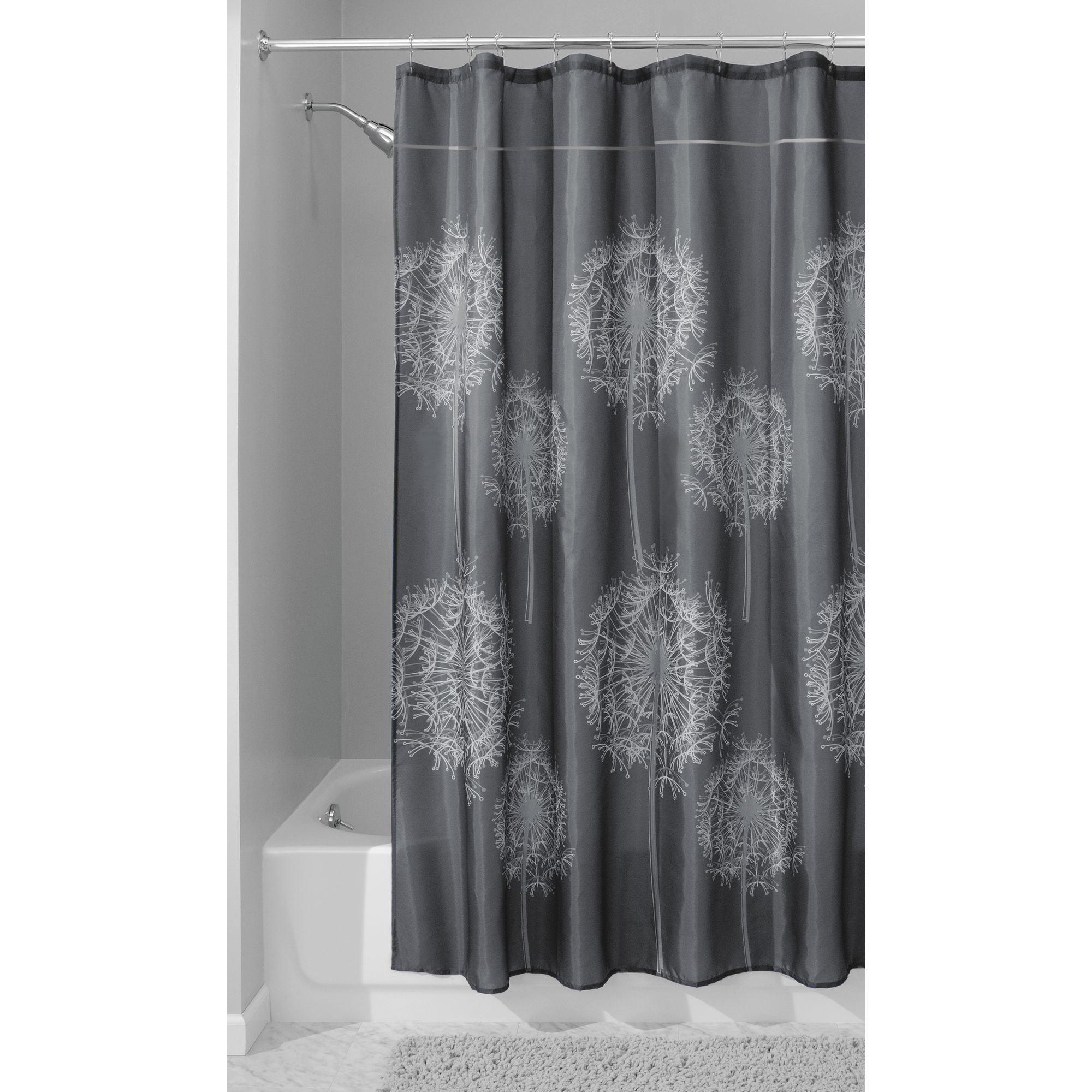 InterDesign Dandelion Fabric Shower Curtain, Various Sizes & Colors by INTERDESIGN