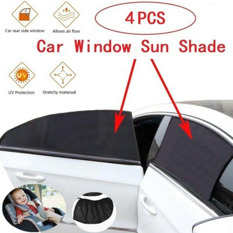 4 Pack Semi-Transparent Baby Rear Window Car Sun Shades Large Vehicle Windows Car Window Shades for Baby//Cartoon Car Window Shade//Universal Car Sun Shade for Cars Minivans SUVs Bus Window