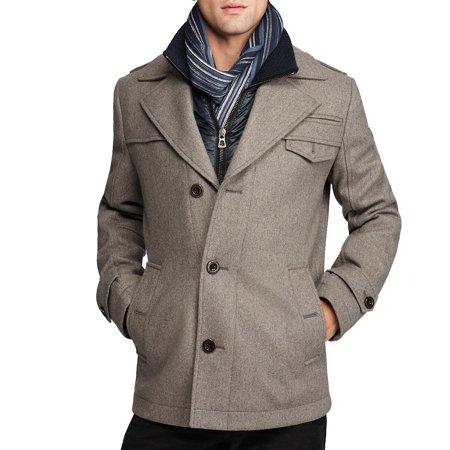 a7e4a6e0ebf Boss Orange by Hugo Boss Men s Ofanta Wool Jacket Pea Coat-Grey-42 ...