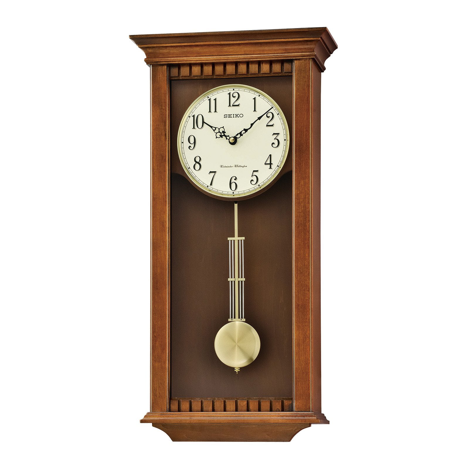 Seiko Wall Clock With Pendulum And Chime Walmart Com