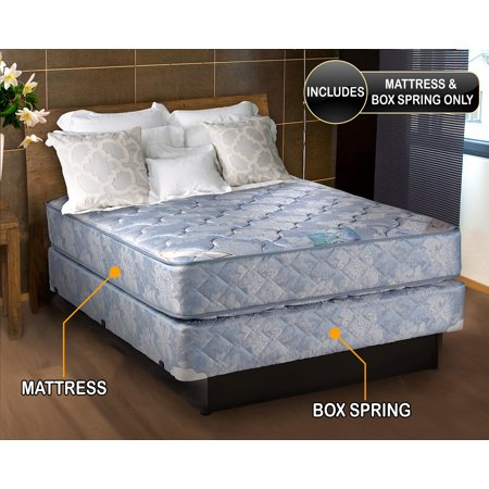 Chiro Premier Medium Firm Orthopedic (Blue) California King Size Mattress and Box Spring Set - Fully Assembled, Good for your back, Superior Quality, Long Lasting and 2 Sided by Dream Solutions USA California King Mattress And Box Spring