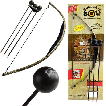 Kids Bow and Arrow Set Beginner Archery Toy Bullseye Black Camo Training Kit Foam Tip