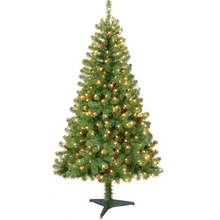 Holiday Time Pre-Lit 6' Colorado Pine Artificial Christmas Tree, Clear  Lights