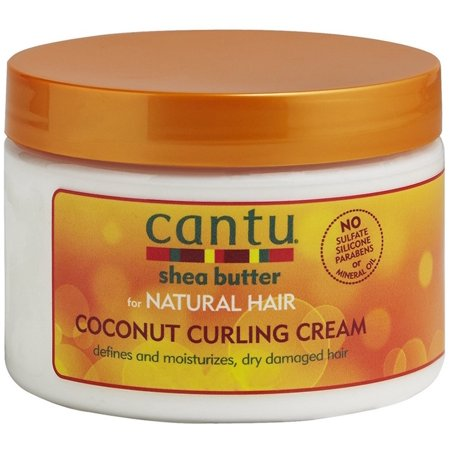 Cantu Shea Butter for Natural Hair Coconut Curling Cream 12 (Best Hair Products For 4b Hair)