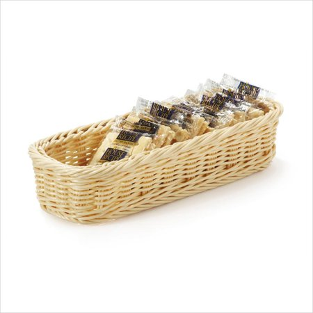 Designer Polyweave Baskets 9 x 3.75 Rectangular Basket 2 Deep Natural Polycarbonate/Case of 12