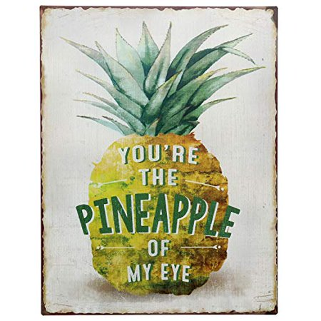 Funny Retro Signs (Barnyard Designs You're The Pineapple of My Eye Funny Retro Vintage Tin Bar Sign Country Home Decor 13