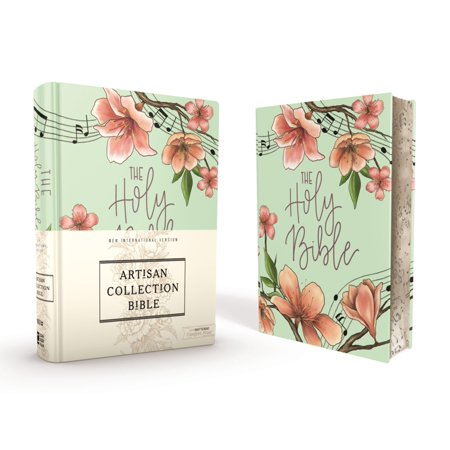 Niv, Artisan Collection Bible, Cloth Over Board, Turquoise Floral, Designed Edges Under Gilding, Red Letter Edition, Comfort Print (Hardcover)