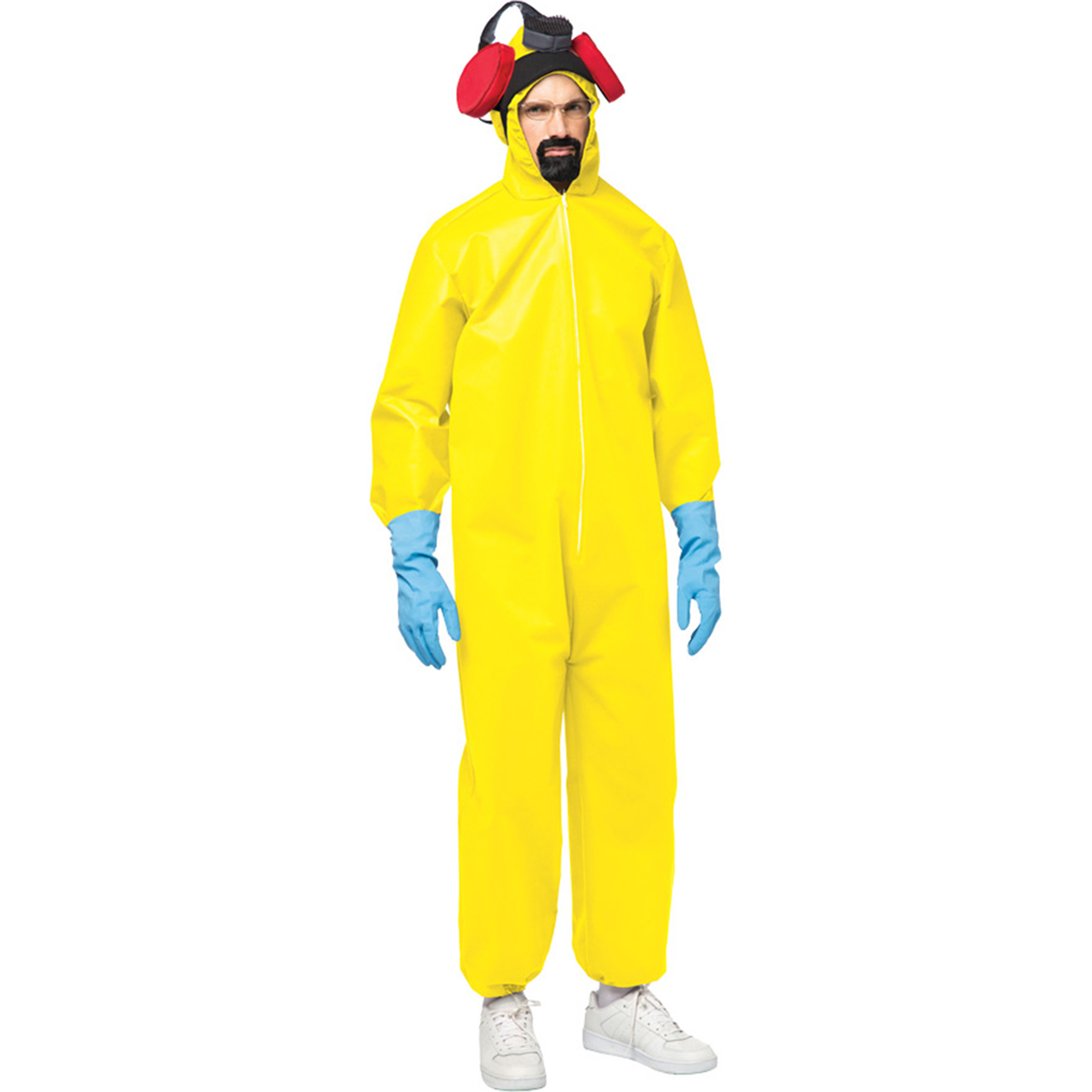 Morris Costumes Mens Yellow One-Piece Jumpsuit Breaking Bad Toxic Haz-Mat Suit Costume