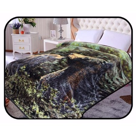 Jcp Hometex Inc  Hiyoko Safari Bear Animal Mink Blanket