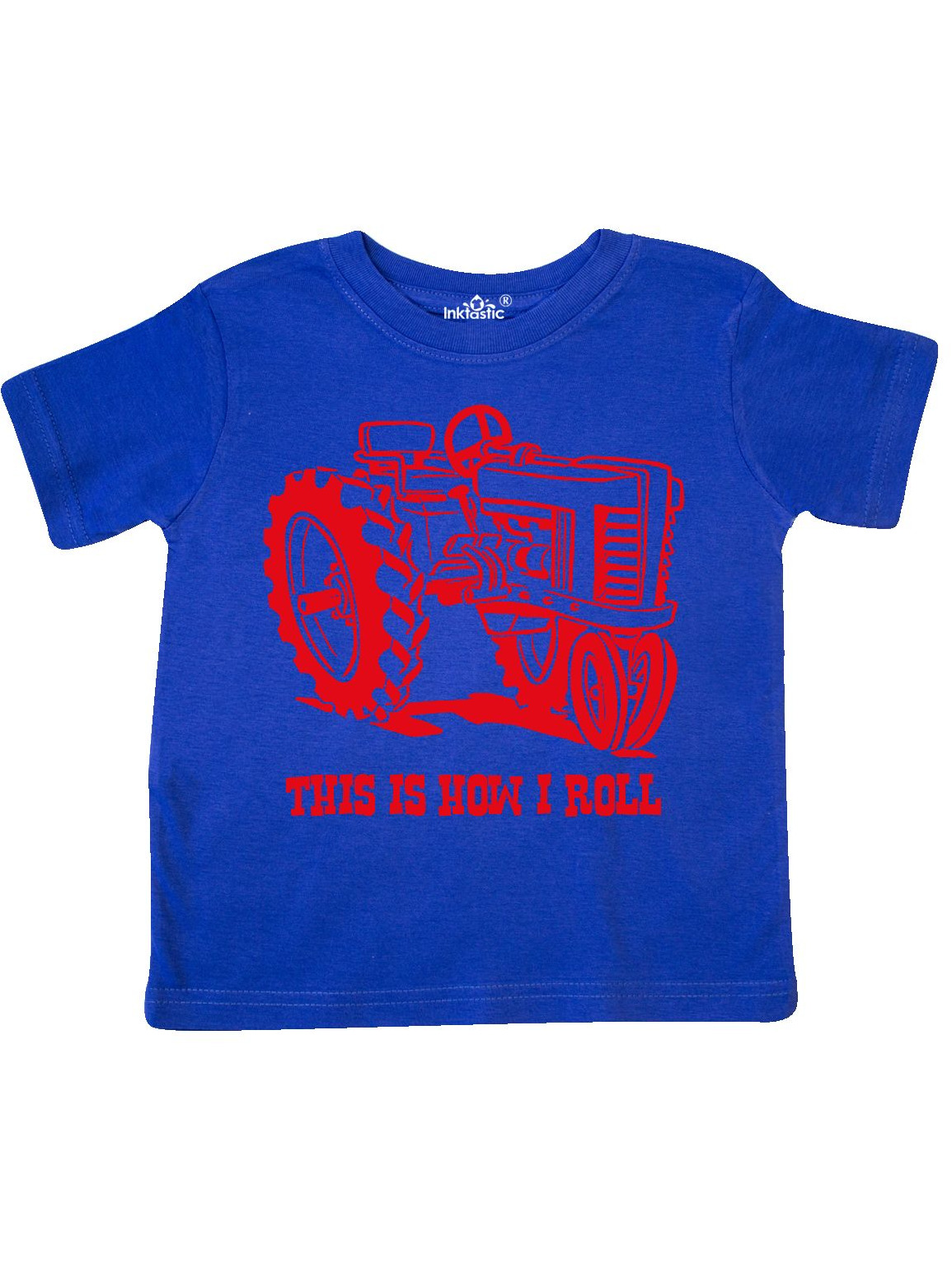 This Is How I Roll Tractor RED Toddler T-Shirt