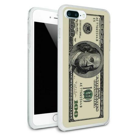 Dollar Bill Cake (Hundred Dollar Bill Protective Slim Hybrid Rubber Bumper Case for Apple iPhone 7+)
