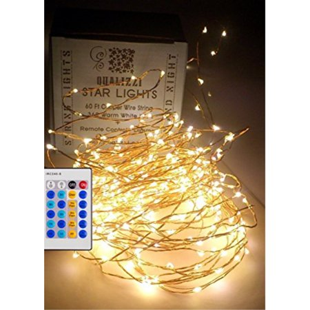 qualizzi starry lights 40 feet xx long 240 leds with remote control dimmer