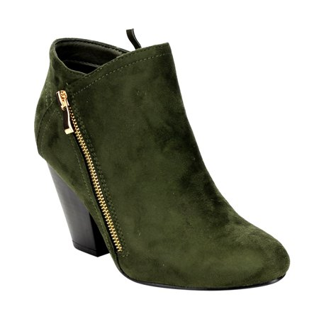 Women's FF47 Block Heel Ankle Booties