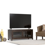 WyndenHall  Essex Solid Wood 48 inch wide Contemporary TV Media Stand in Coffee Brown  For TVs up to 50 inches