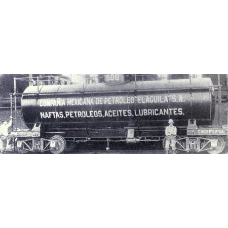 The Mexican Eagle Oil Company's rail tank car. Mexico, 1914 Espa̱ol: Carro tanque para tren de la Poster Print 24 x (Competitive Edge Labs X Tren For Sale)