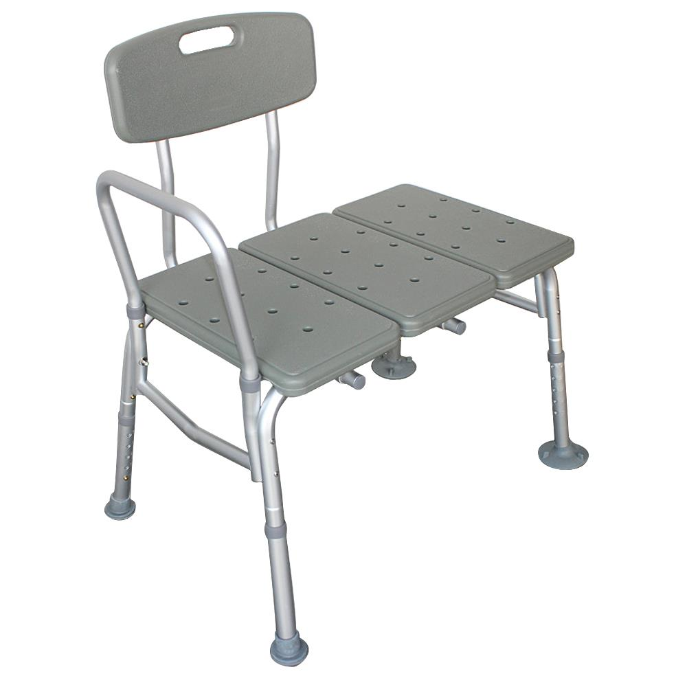 Ktaxon Shower Chair Plastic Tub Transfer Bench with Adjustable Backrest, Gray