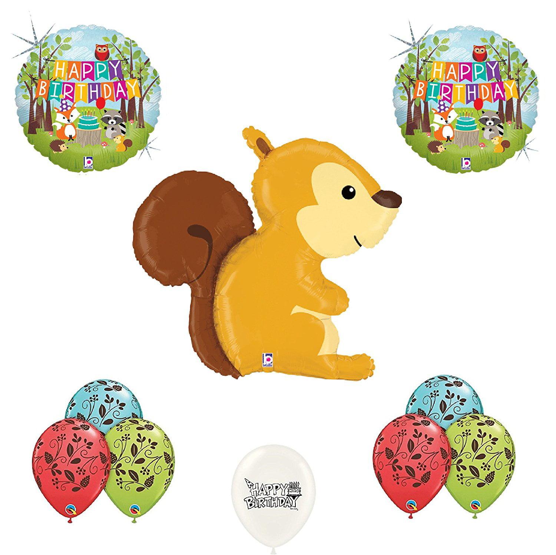 Squirrel Woodland Birthday Balloon Bouquet