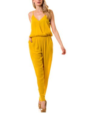 819d180e5a9 Product Image KOGMO Womens Casual Adjustable Spaghetti Strap Front Wrapped  Jumpsuit Overalls
