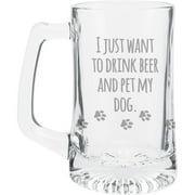 Pet My Dog Beer Mug, 15oz by K1C2